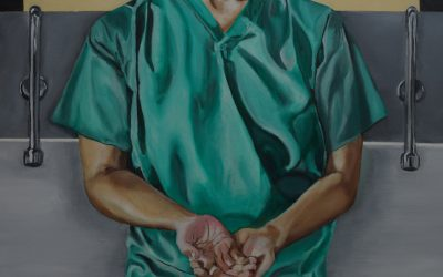 "Featured work: ""Self portrait in Green Scrubs"""