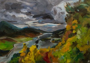 """Queen's View, Perthshire. 2017. Oil on canvas. 16.5"""" x 23.4"""""""