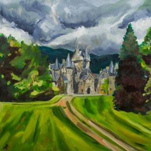 "Ardverikie Estate. 2018. Oil on canvas. 19.7"" x 19.7"""