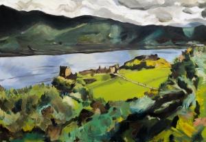 "Urquhart Castle #2. 2018. Oil on canvas. 16.5"" x 23.4"""