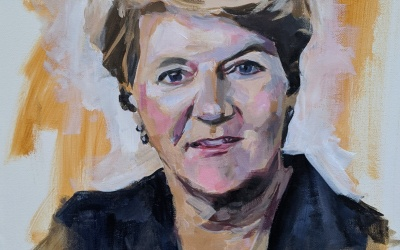 Painting Clare Balding